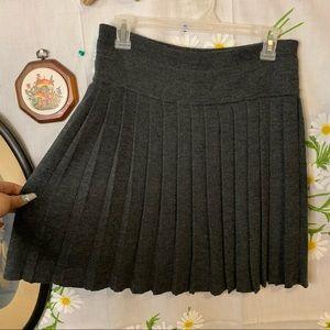 Vintage heather grey pleated high waisted skirt